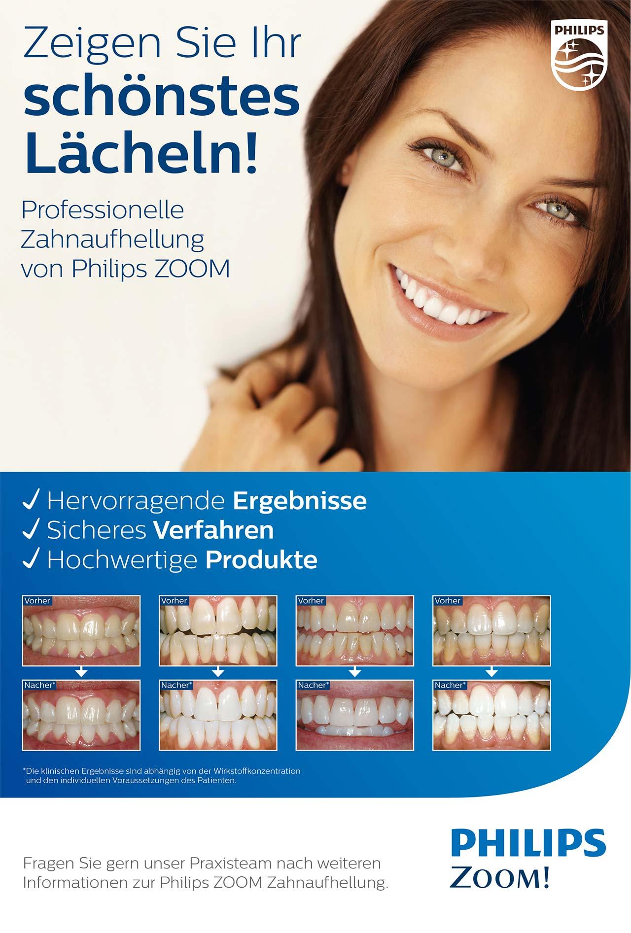Professionelle Zahnaufhellung von Philips ZOOM