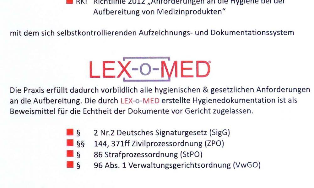 Zertifikat Lex-o-Med